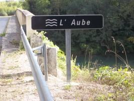 Pancarte rivière l'Aube