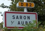 Pancarte accès village en venant de Sauvage